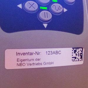 Etiketten Inventar