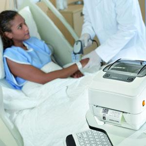 Krankenhaus-logistik mit Barcode