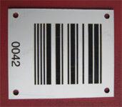 Aluminium Etikette, Metall Etikette