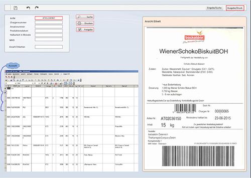 Etikettendruck für Produkte